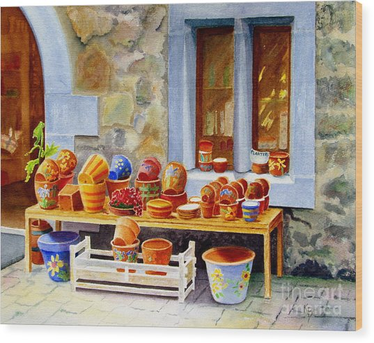The Pottery Shop Wood Print