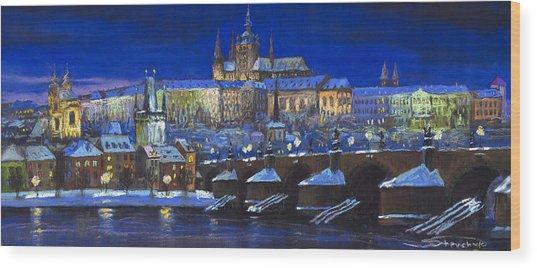 The Prague Panorama Wood Print