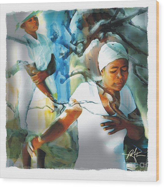 The Prayer Tree Haiti Wood Print