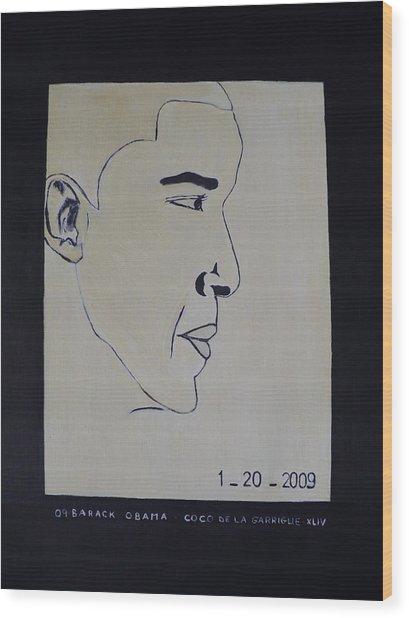 The President Barack Obama. Wood Print by Bucher
