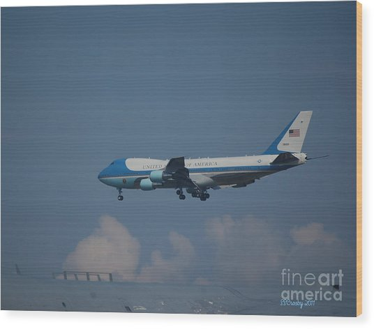 The President's Aircraft Wood Print