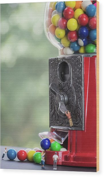 The Problem With Gumball Machines Wood Print