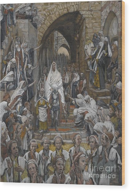 The Procession In The Streets Of Jerusalem Wood Print