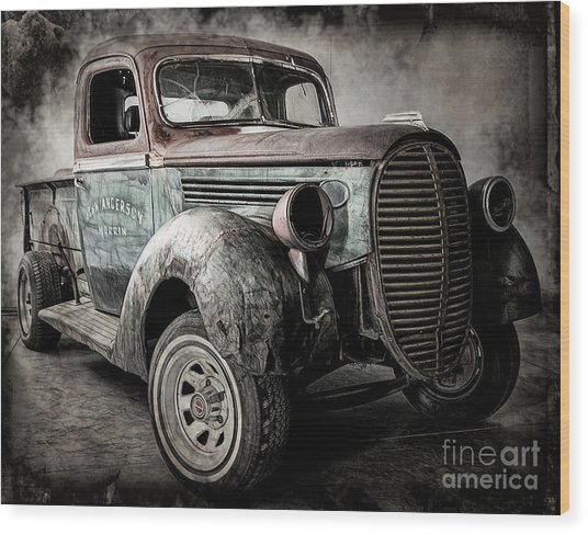 Wood Print featuring the photograph The Project by Brad Allen Fine Art