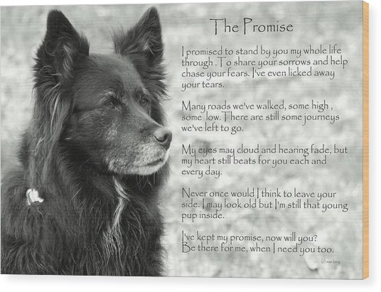 The Promise Wood Print