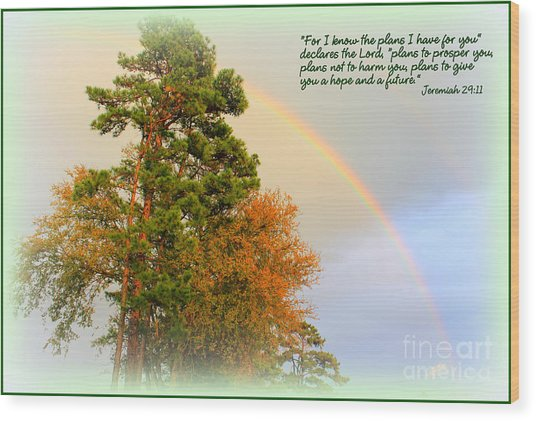 The Promises Of God Wood Print