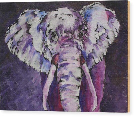 The Purple Bull Wood Print
