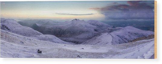 The Purple Headed Mountains Wood Print