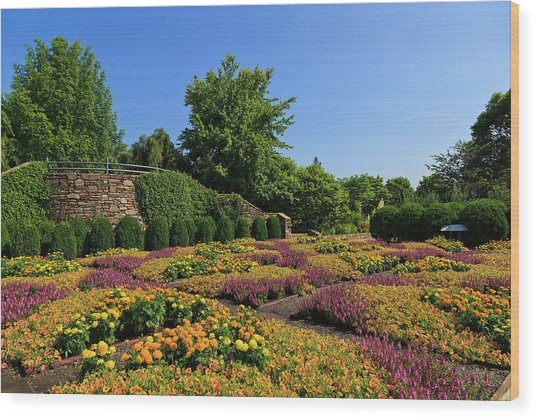 The Quilt Garden Wood Print