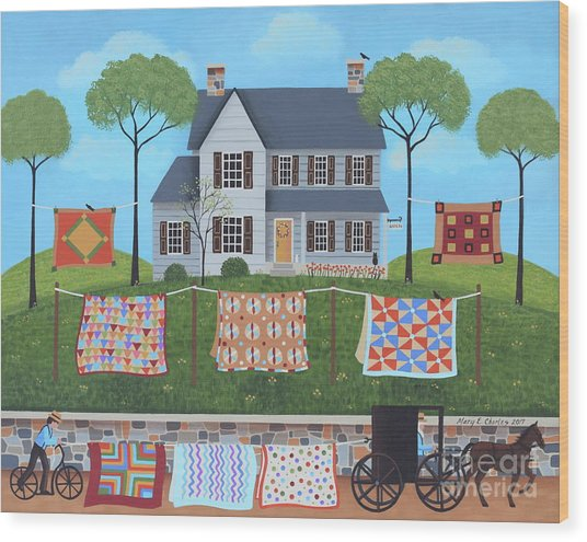 The Quilt Parade Wood Print