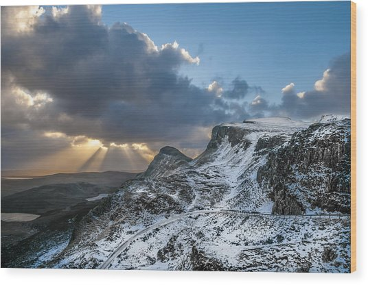 The Quiraing Just After Dawn Wood Print