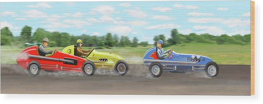 The Racers Wood Print