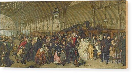 The Railway Station Wood Print
