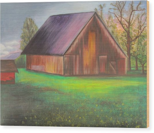 The Ranch Wood Print by Leslie Gustafson