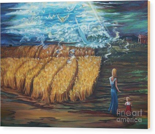 The Rapture Wood Print