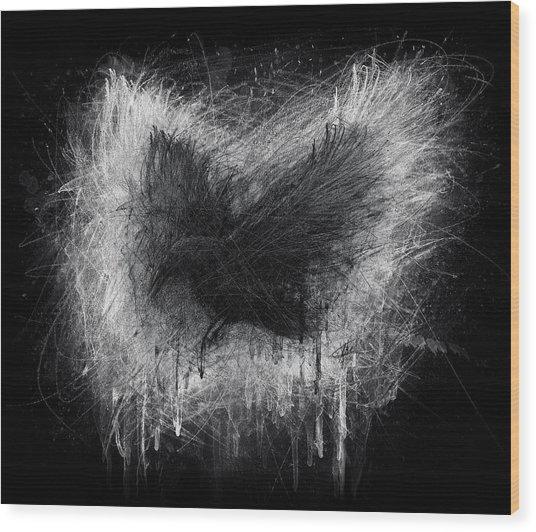 The Raven - Black Edition Wood Print