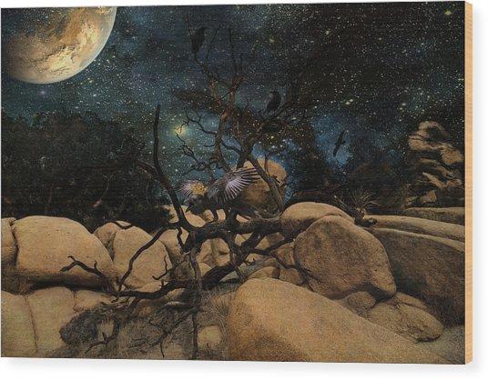 The Raven King Wood Print