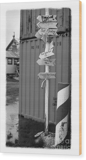 The Real Alaska - Crossroads Wood Print