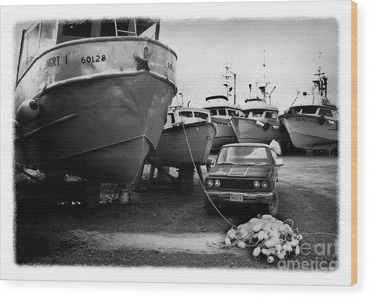 The Real Alaska - Dry Dock 1 Wood Print