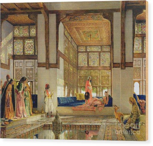 The Reception Wood Print
