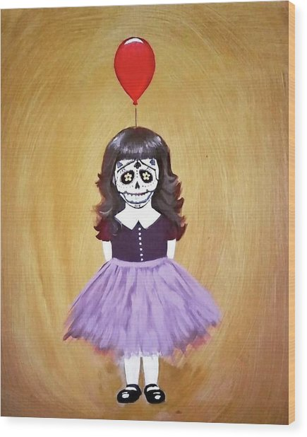 The Red Balloon Wood Print