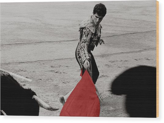 The Red Cape Wood Print