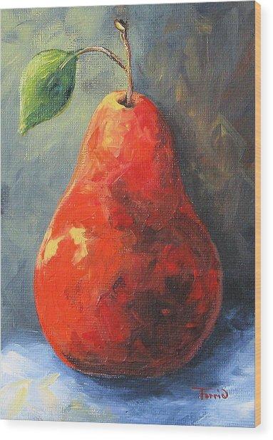 The Red Pear II  Wood Print by Torrie Smiley