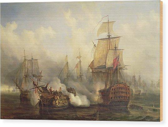 Unknown Title Sea Battle Wood Print