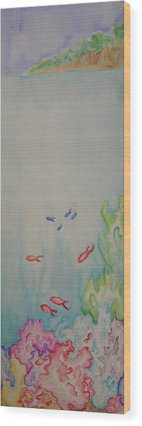 The Reef Wood Print by Donielle Boal