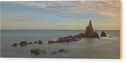 The Reef Of The Cape Sirens At Sunset Wood Print