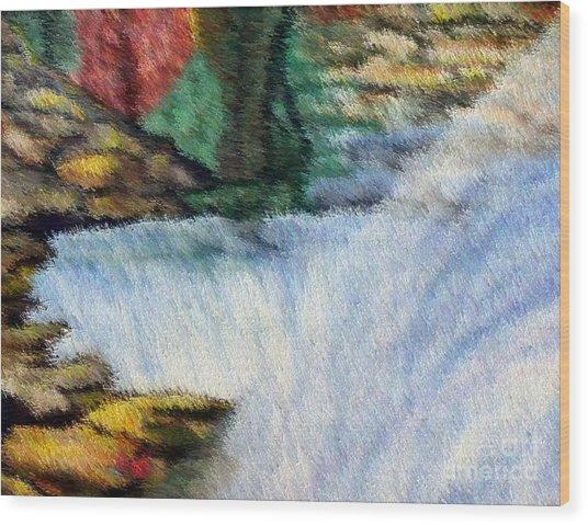 The Refreshing Se3 Wood Print by Brenda L Spencer