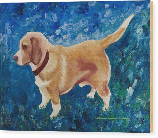 The Regal Beagle Wood Print
