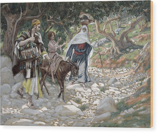 The Return From Egypt Wood Print