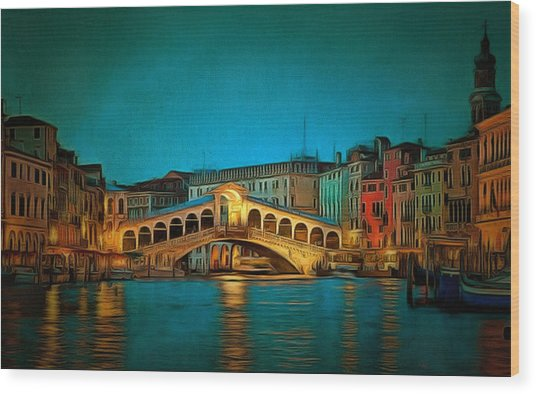 The Rialto Bridge Wood Print