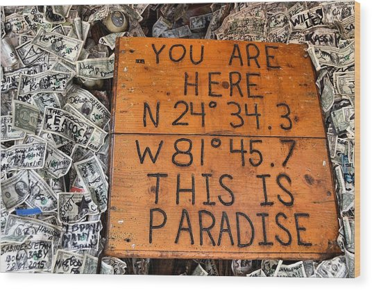 The Right Coordinates Wood Print by JAMART Photography