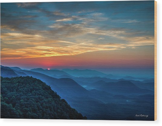 The Rising Sun Pretty Place Chapel Greenville S C Great Smoky Mountain Art Wood Print