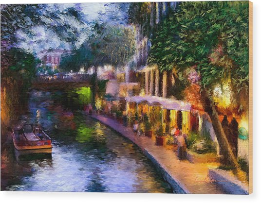 The River Walk Wood Print