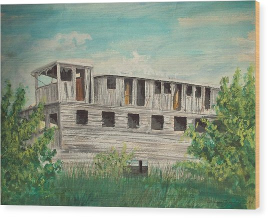 The Riverboat Majestic  Wood Print by Norman F Jackson