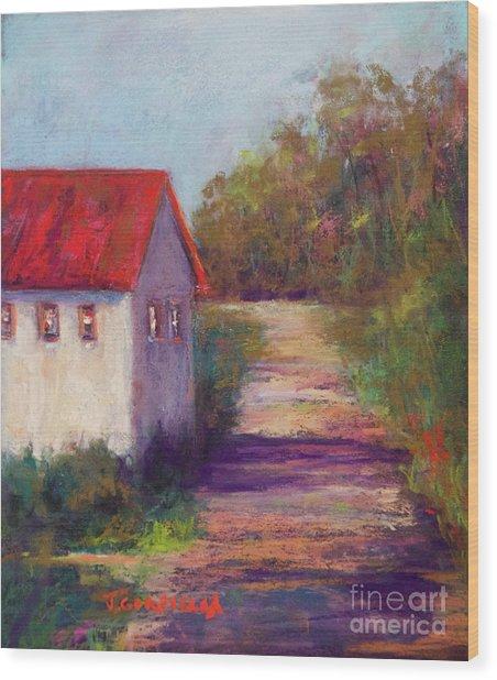 The Road Behind Wood Print by Joyce A Guariglia