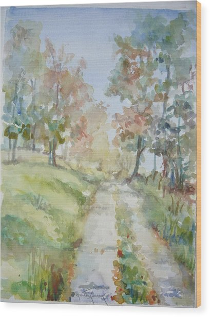 The Road Home Wood Print by Dorothy Herron