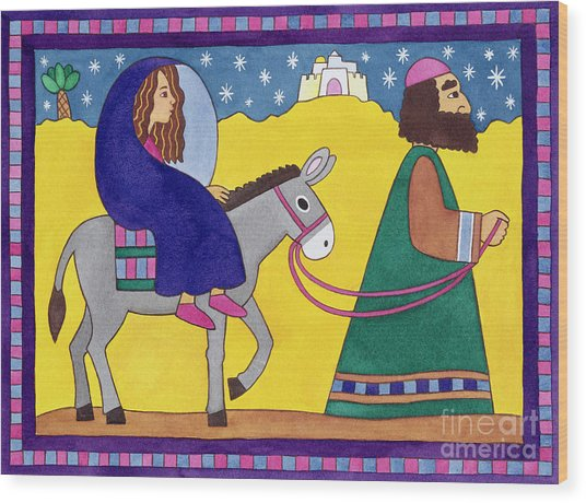 The Road To Bethlehem Wood Print