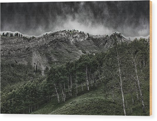 The Road To Blue Rock Wood Print