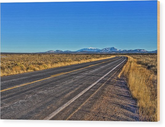 The Road To Flagstaff Wood Print