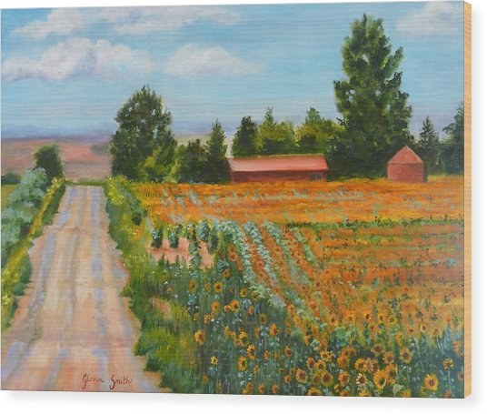 The Road To Happiness Wood Print by Gloria Smith