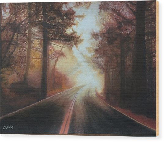 The Road To Somewhere Wood Print