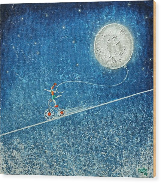 The Robbery Of The Moon Wood Print
