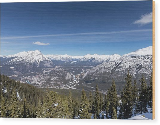 The Rockies Landscape Wood Print