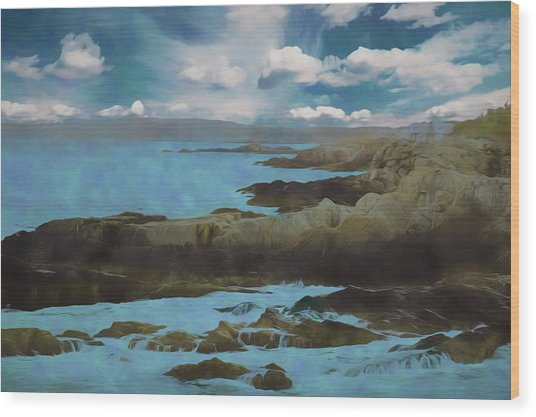 The Rocky Maine Coast. Wood Print