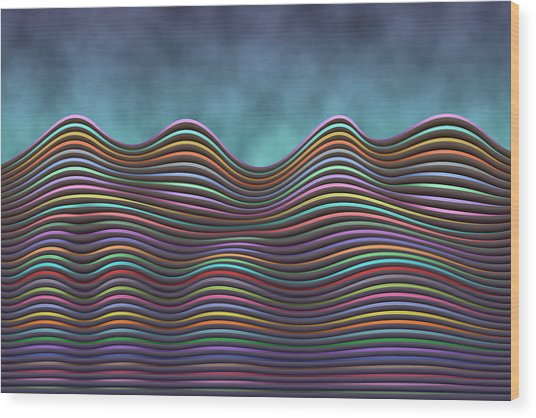 The Rolling Hills Of Subtle Differences Wood Print