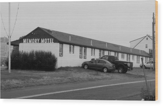 The Rolling Stones' Memory Motel Montauk New York Wood Print